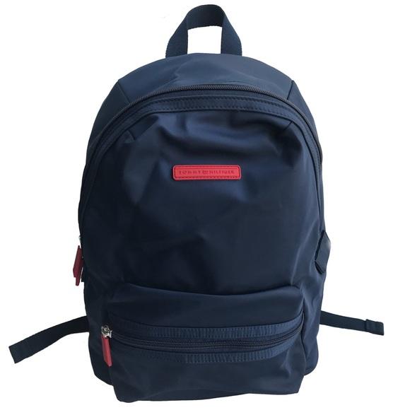 tommy hilfiger navy blue backpack